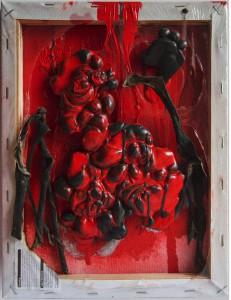 The disagreement 2014 (wax paint, banana skins)